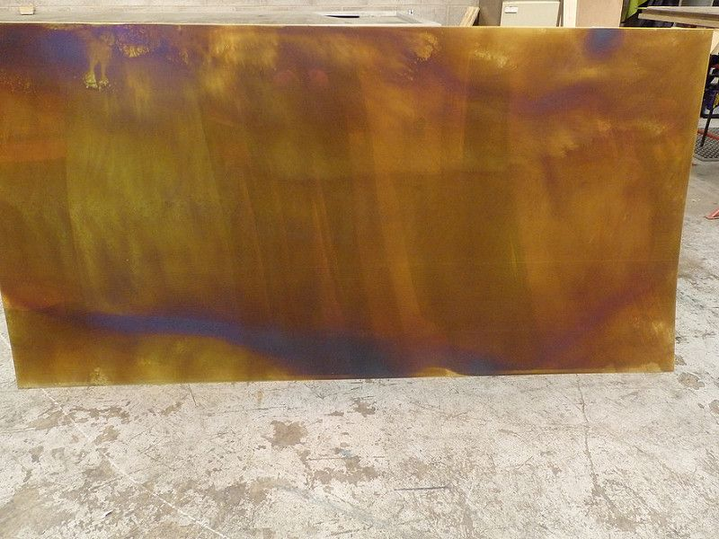 25 Bronze Distressed Brass Sheet 2m X 1m Distressed Brass Bronze Distressed