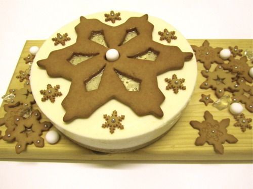 Ginger and Mint Snowflake Cheesecake
