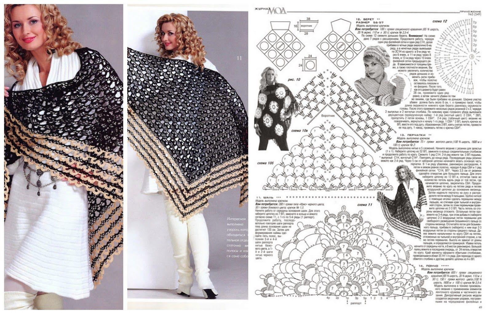 Wolletjes Paradijs: Gratis Patronen Omslagdoeken en Shawls   crochet ...