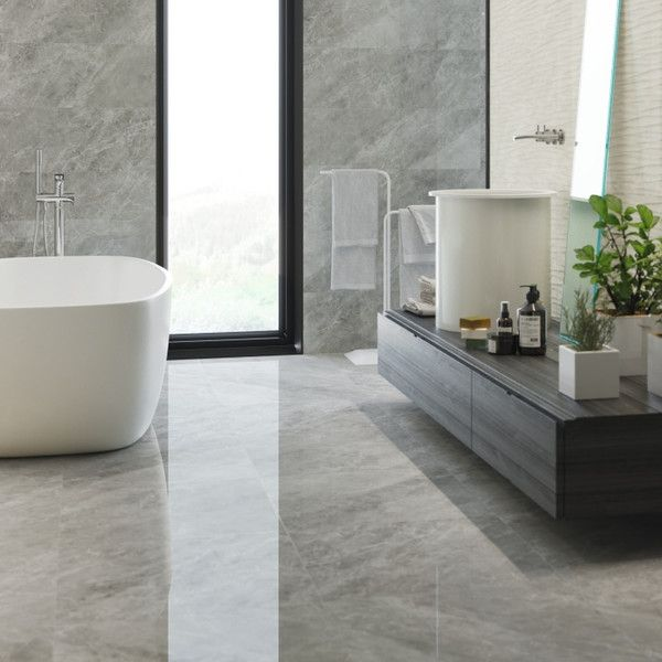 buckingham extra large wall tiles  grey tiles  patterned