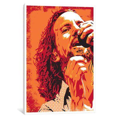 East Urban Home Eddie Vedder Graphic Art Print On Canvas Size 18 H X 12 W X 1 5 D Eddie Vedder Pearl Jam Posters Pearl Jam