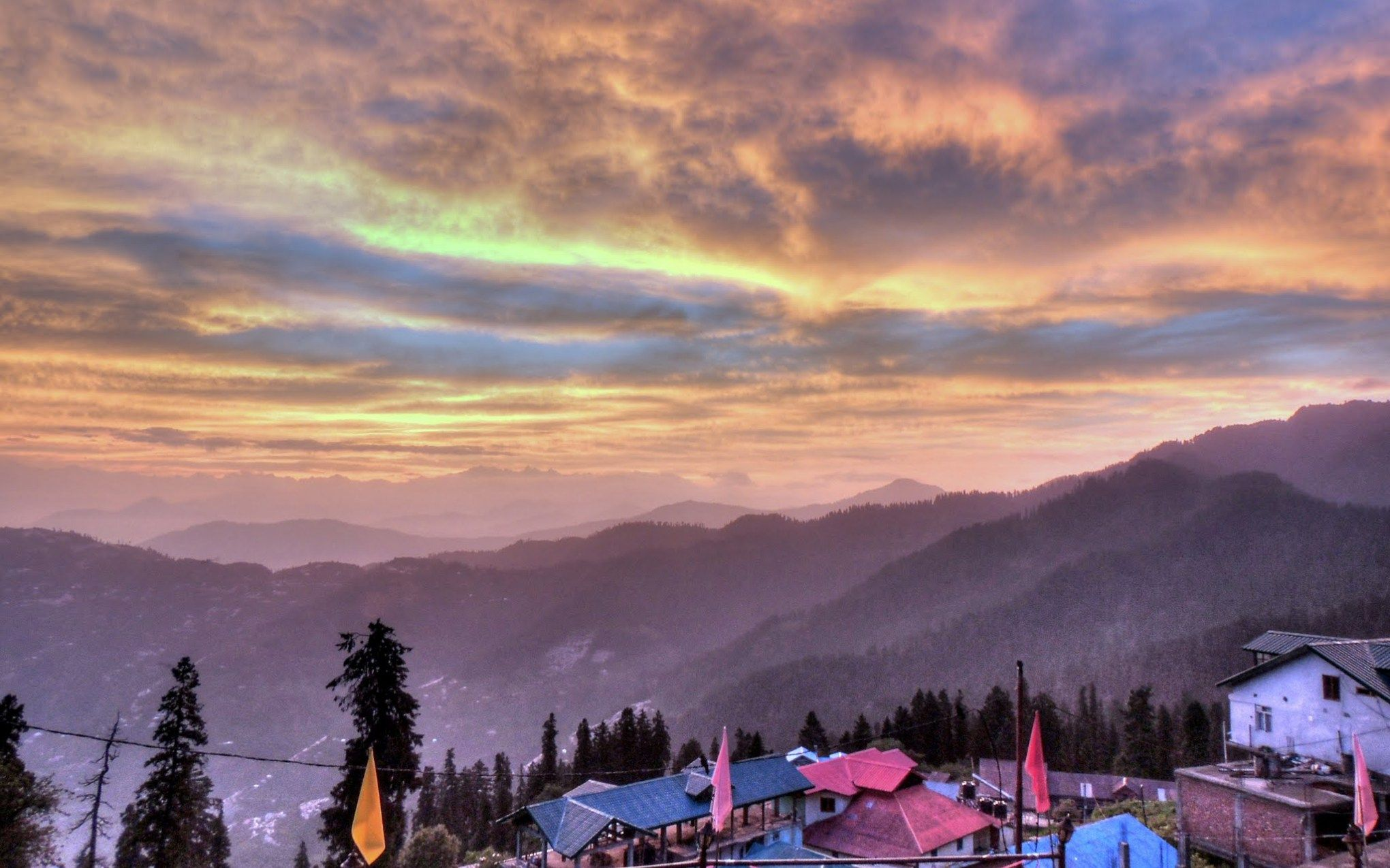 Shimla Beautiful Hill And Dramatic Sky Digital Art Photography Background Images Landscape Photography