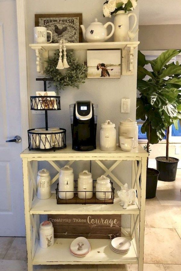 Photo of 60 Suprising Mini Coffee Bar Ideas for Your Home 43
