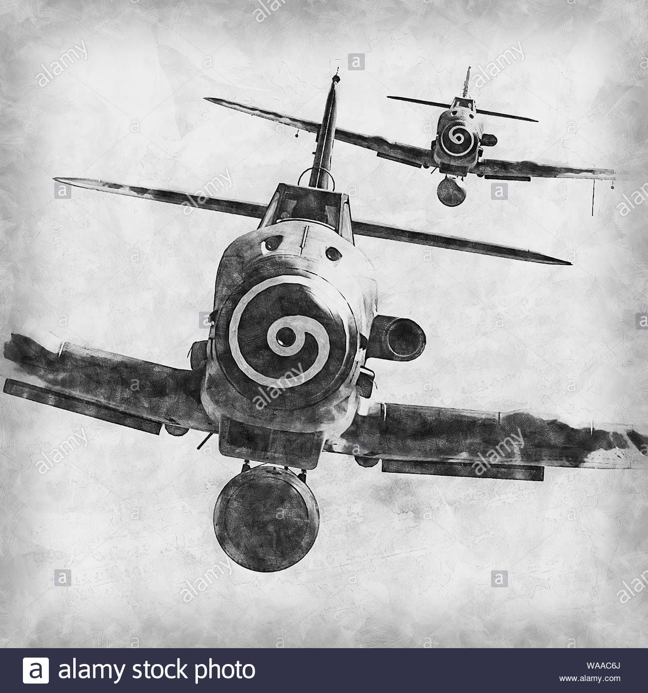 Download this stock image: The Messerschmitt Bf 109 is a German World War II fighter aircraft that was, along with the Focke-Wulf Fw 190, the backbone of the Luftwaffe - WAAC6J from Alamy's library of millions of high resolution stock photos, illustrations and vectors.