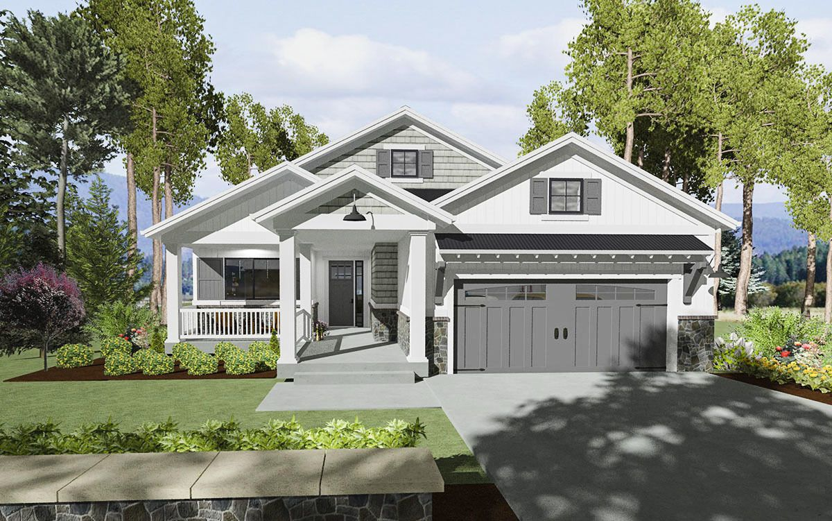 Expandable Bungalow House Plan 64441SC