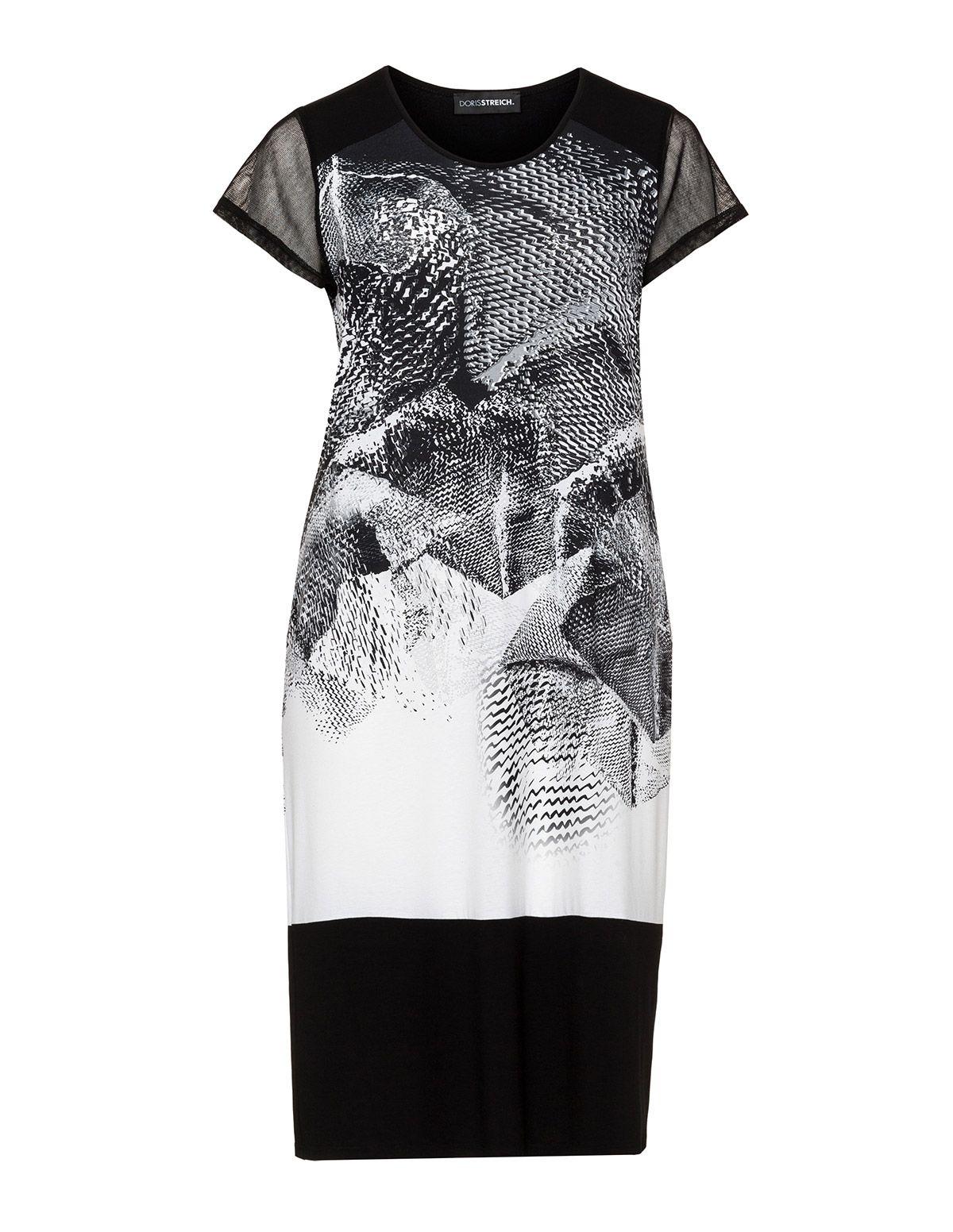 Doris Streich Two tone print dress in Black / White | MS in 2019 ...
