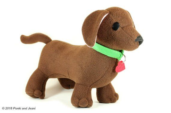 Dachshund Plush Toy Dog Plushie Cute Stuffed Animal Kawaii