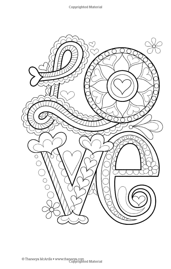 Color Love Coloring Book Perfectly Portable Pages Thaneeya Mcardle 9781497200357 Books Amazon C Love Coloring Pages Mandala Coloring Pages Coloring Pages