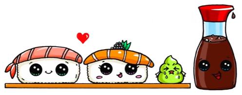 Kawaii Sushi Disegni Bellissimi Nel 2019 Disegni Kawaii Disegni