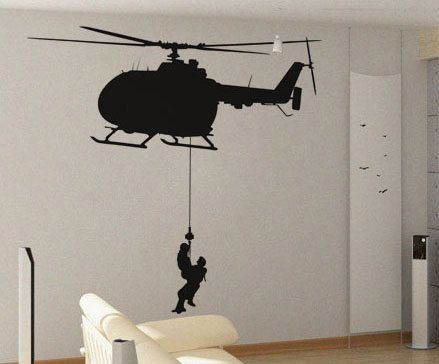 Helicopter Repel - uBer Decals Wall Decal Vinyl Decor Art Sticker ...