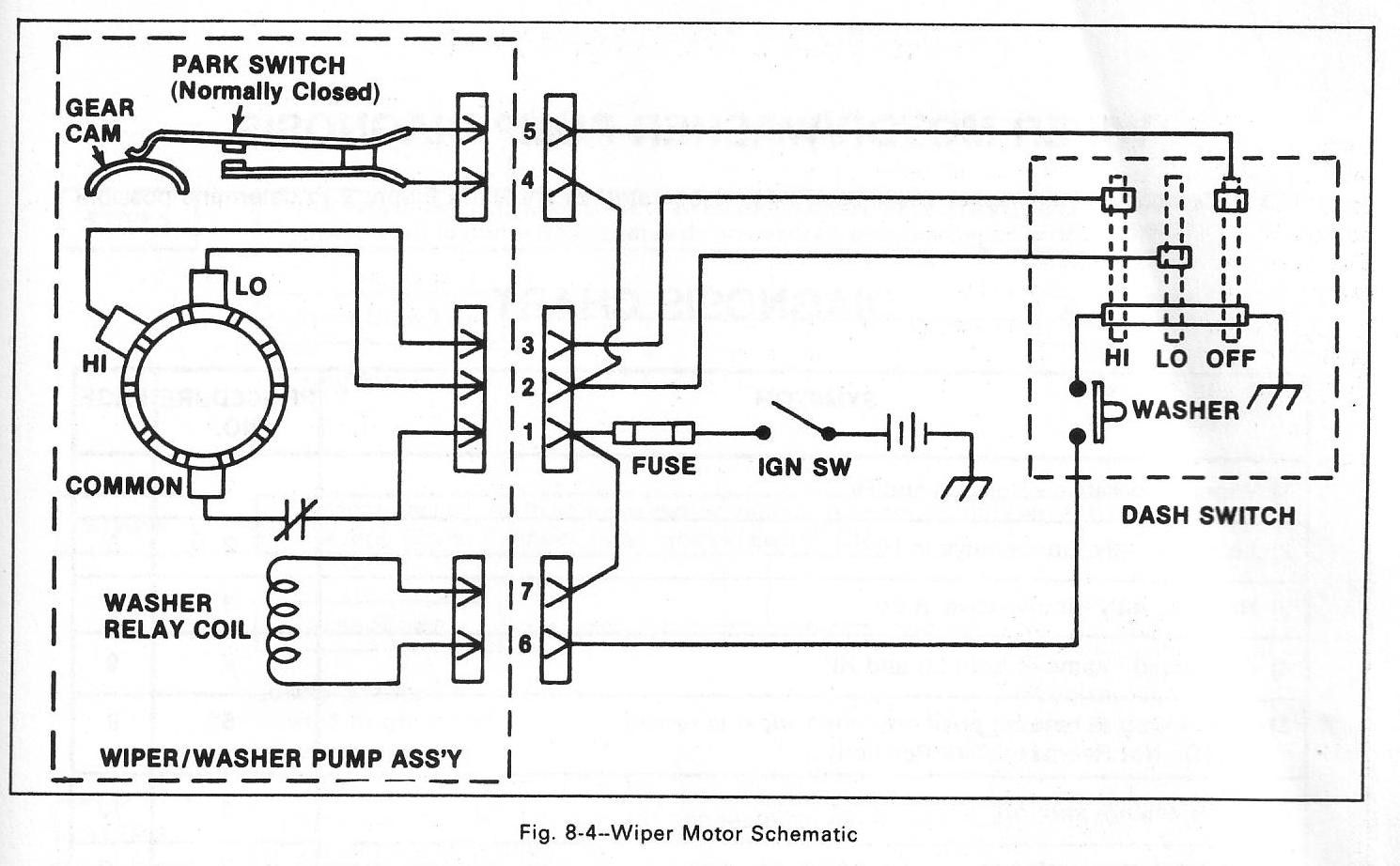 Park Switch And Windshield Wiper Wiring Diagram With Washer Relay Coil In Wiring Diagram Wiper Motor Electrical Diagram Chevy Trucks Windshield