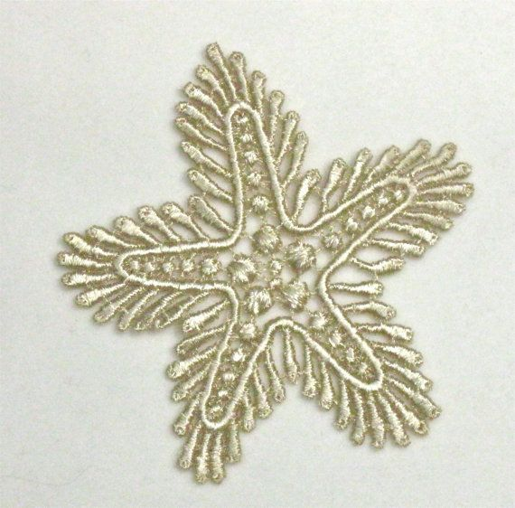 Venice Lace Applique Gold Starfish Venise by Cathyscrazybydesign