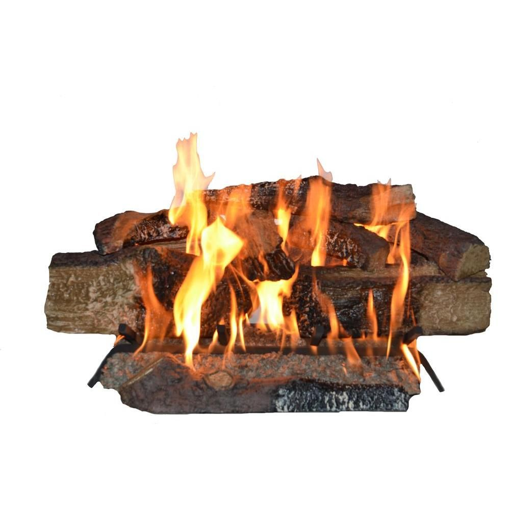 0dfd8d90c55 Emberglow Country Split Oak 24 in. Vented Natural Gas Fireplace Logs ...