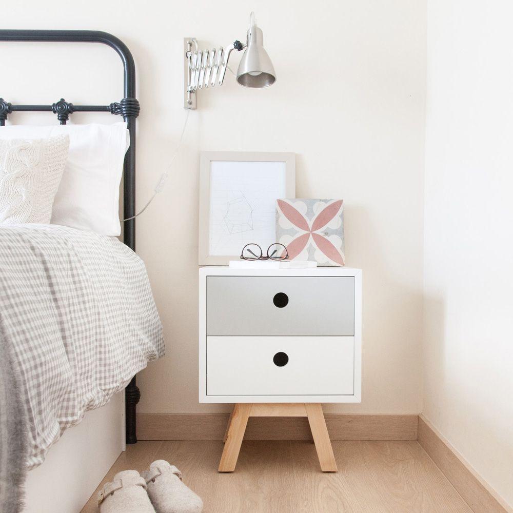 Mesita Adela, una mesa auxiliar multifuncional | Dormitorio nórdico ...