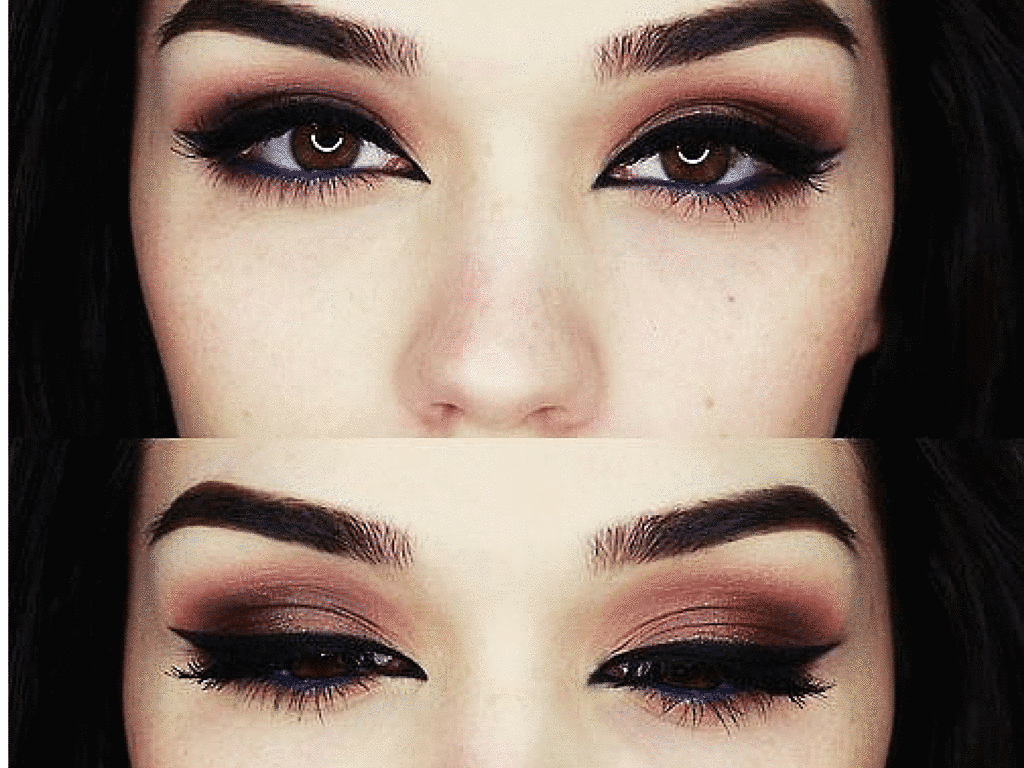 maquillaje para ojos grandes marrones