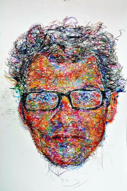 """Saatchi Online Artist: Iam Scribble; Pastel, 2011, Drawing """"scribble study"""""""