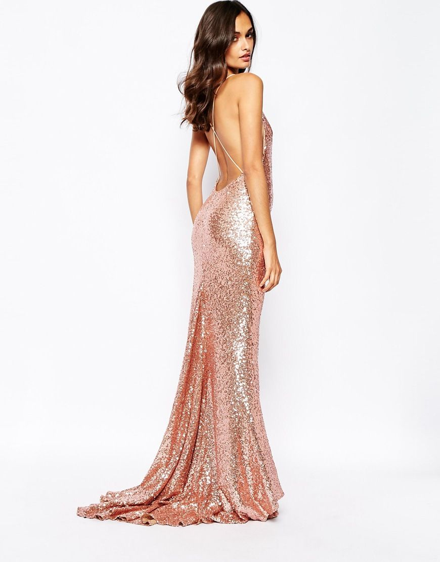 Image 4 Of Fame And Partners Sequin Paradise Embellished Maxi Dress
