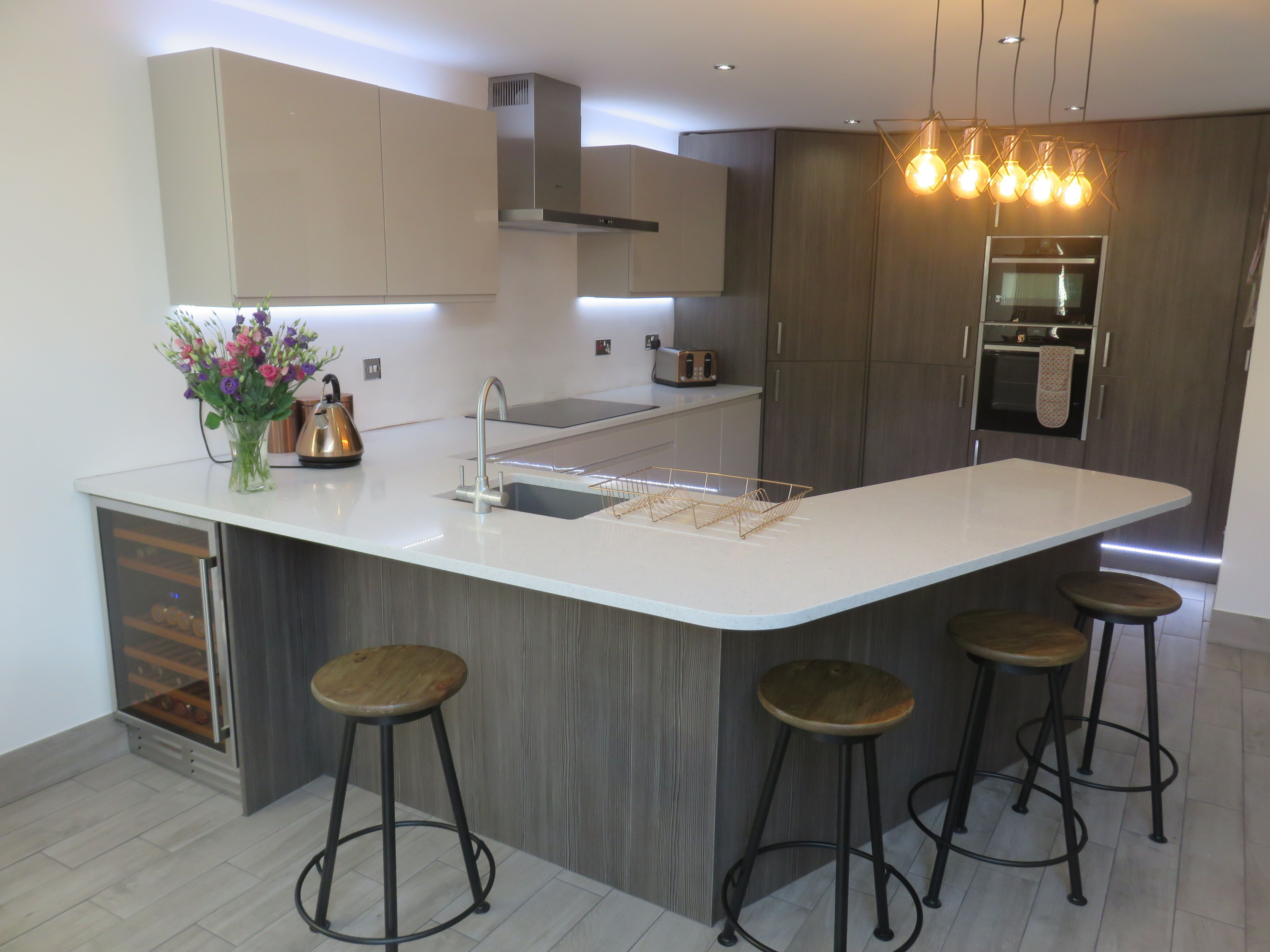 Stylish modern kitchen fitted in Stourbridge The Gallery