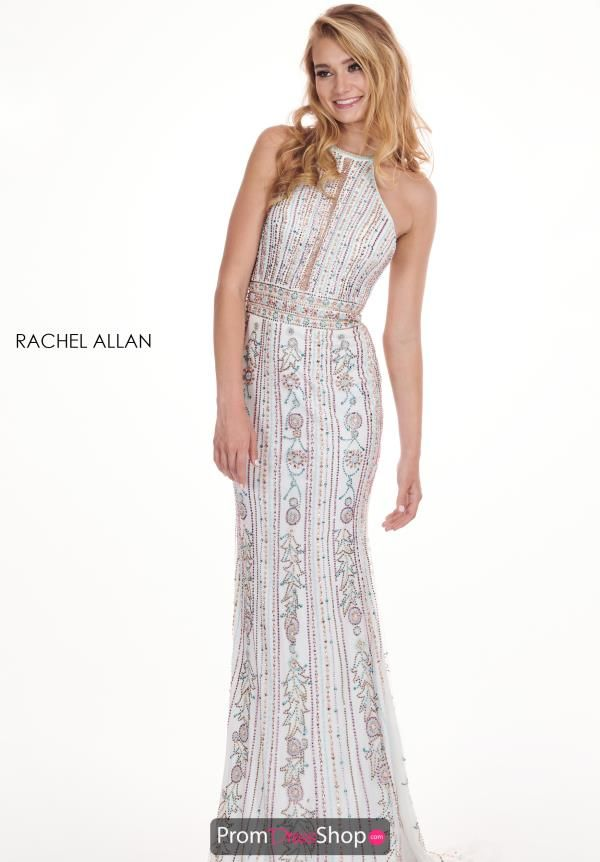 da83e243191 Show off your chic taste in fashion by wearing this one of a kind Rachel  Allan dress. Style 6625 showcases a high halter neckline featuring a mesh  panel ...