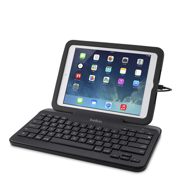 Wired Tablet Keyboard w/ Stand for iPad (Lightning Connector) - FrontViewImage