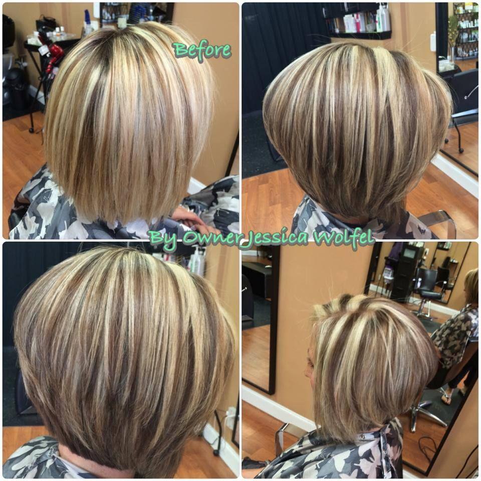 highlight lowlights assymetrical bob | hair in 2019