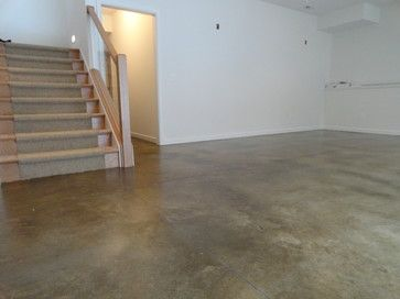 Modern Basement Jpg 640 480 Concrete Stained Floors Basement Flooring Flooring