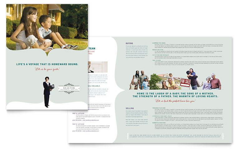 Realtor \ Realty Agency - Brochure Template Design Real Estate - microsoft word tri fold brochure template