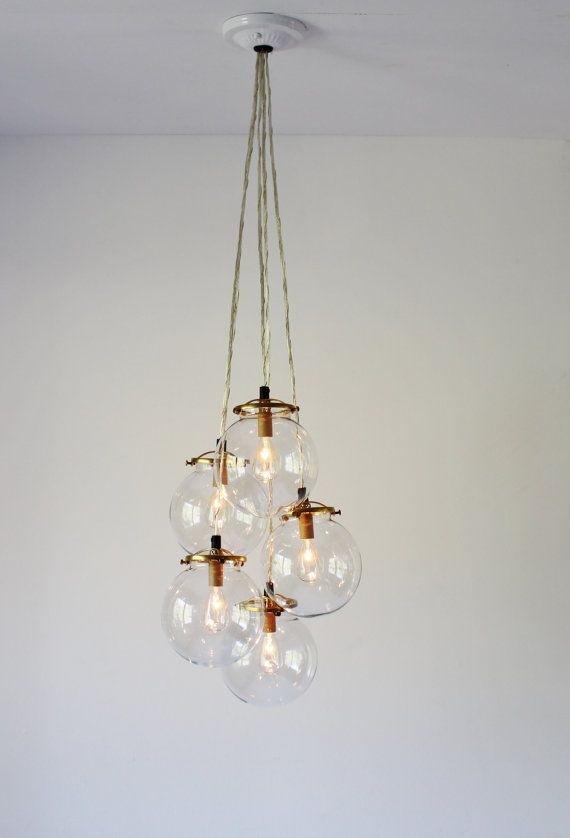 Simplicity And Utility Join Forces With Our Clear Globe Cer Chandelier Easy To Install This Goes Well Any Decor Is Ready