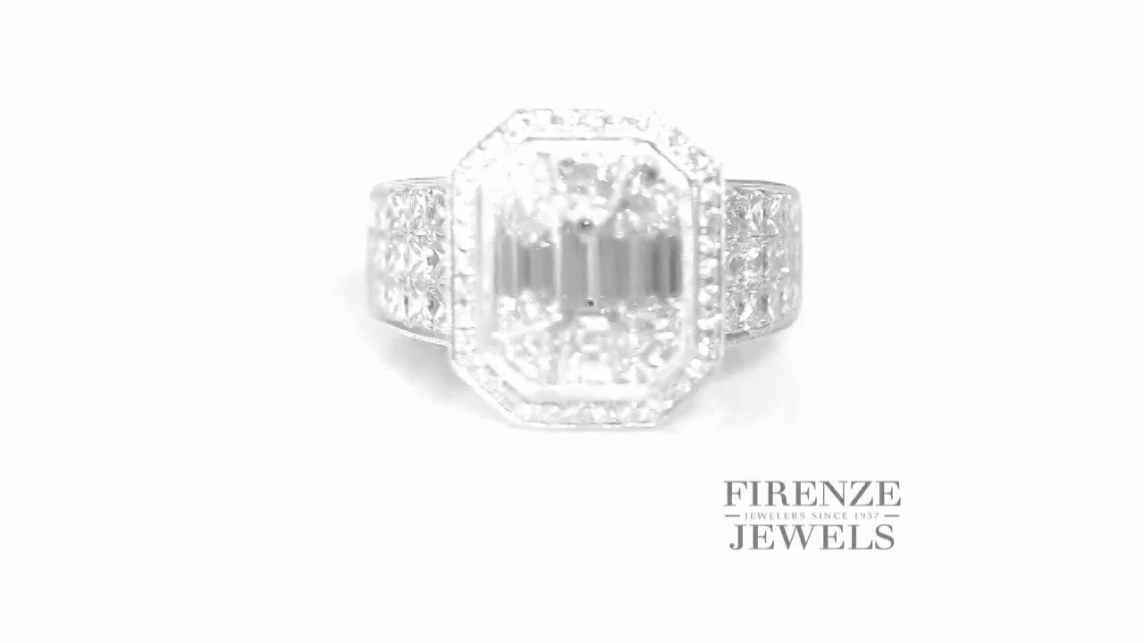 Simon G MR2016 Diamond Antique Style 18k White Gold Ring 3.63ctw - Firenze Jewels Product #6201  #video #engaged #diamonds #jewelry    www.firenzejewels.com/simon-g-diamond-antique-style-18k-white-gold-engagement-ring_6201.html
