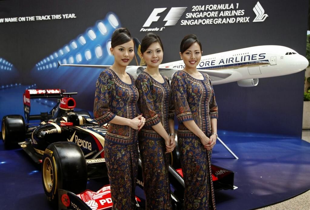 """Asian beauty"" 2014 Formula1 Singapore Airlines Singapore Grand Prix"