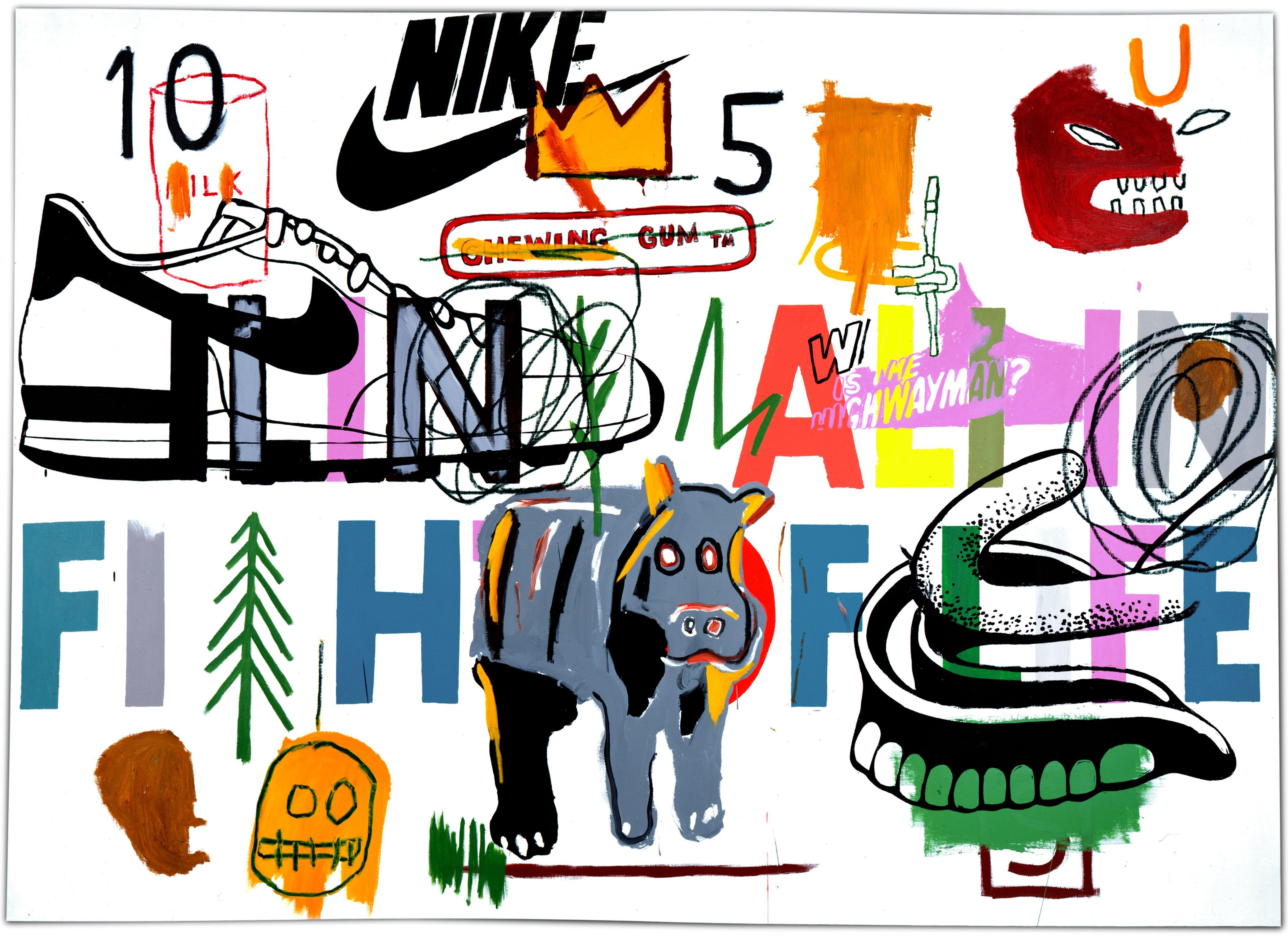 Jean-Michel Basquiat Ailing Ali in Fight of Life, 1984 Acrílico sobre  lienzo 193 x 267 cm Colección Bischofberger, Suiza… | Jean michel basquiat,  Basquiat, Warhol