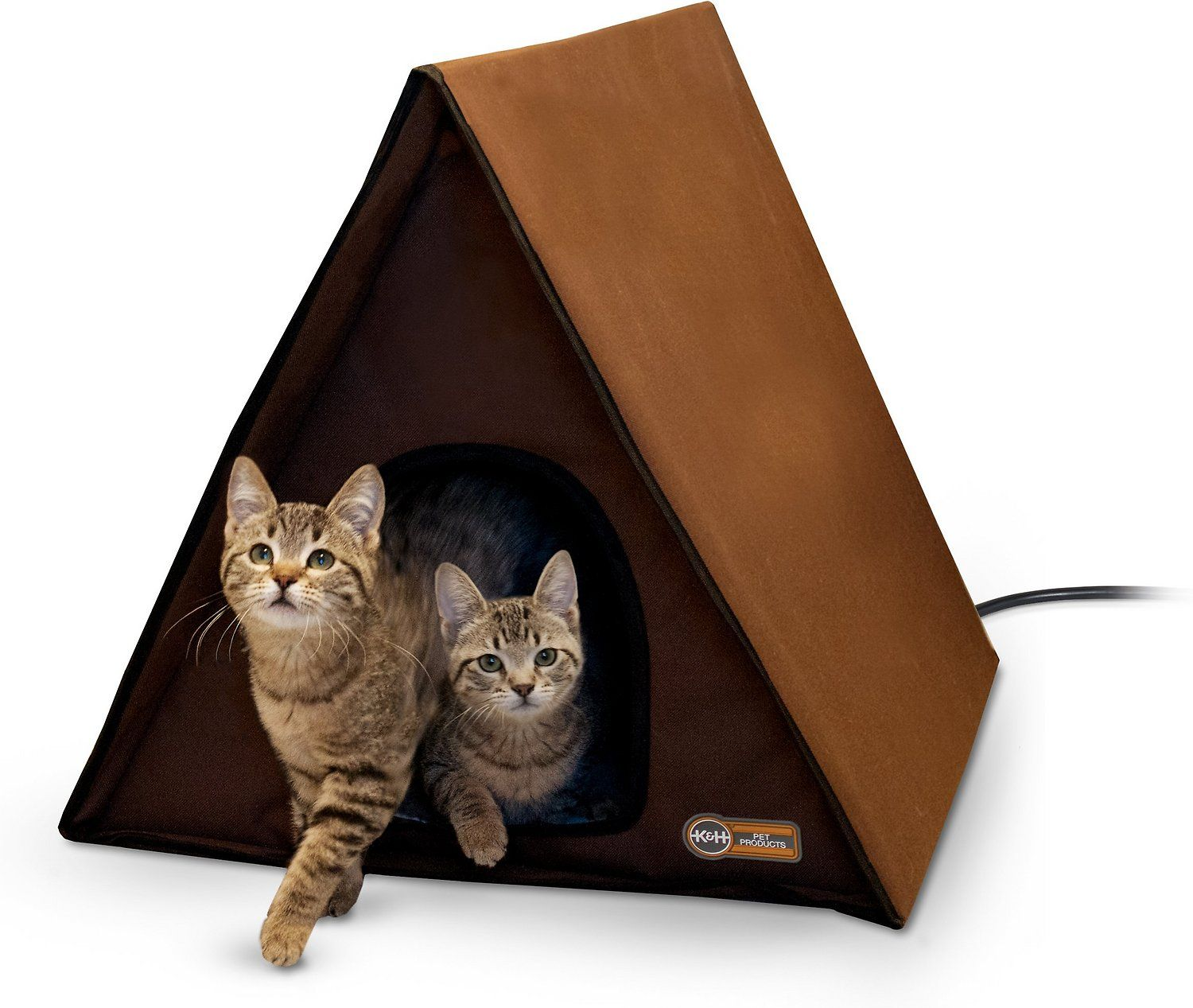 K&H Pet Products Outdoor Heated MultiKitty AFrame House