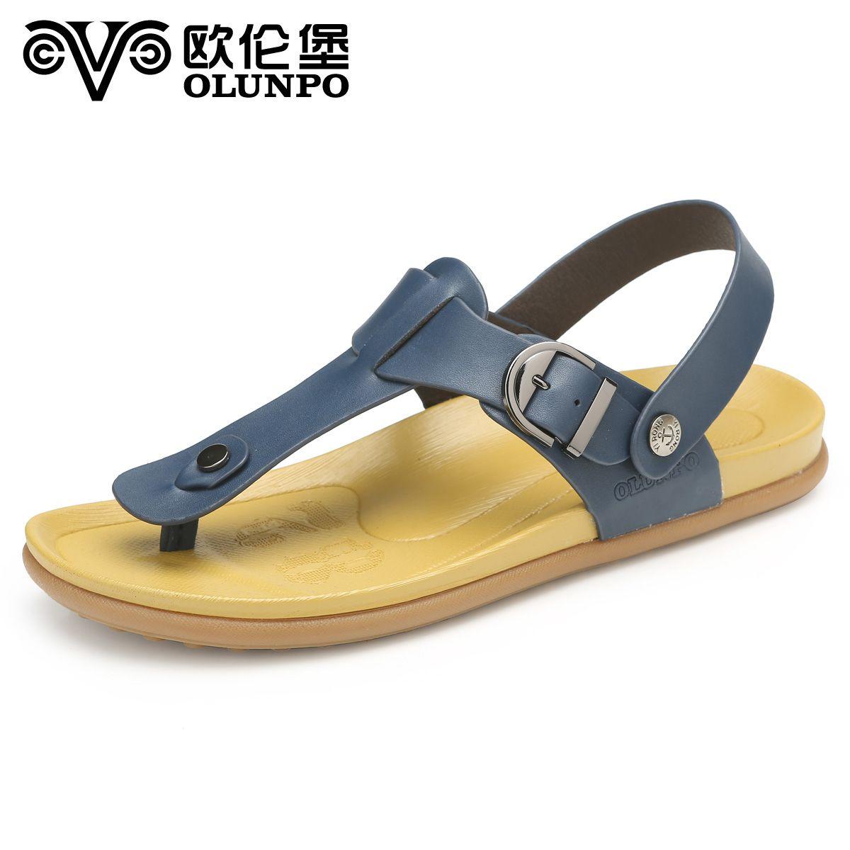 European sandals shoes - European Fort Beach Shoes Men Korean Men S Casual Leather Sandals Sandals Trend Summer 2014 New Xyr1405