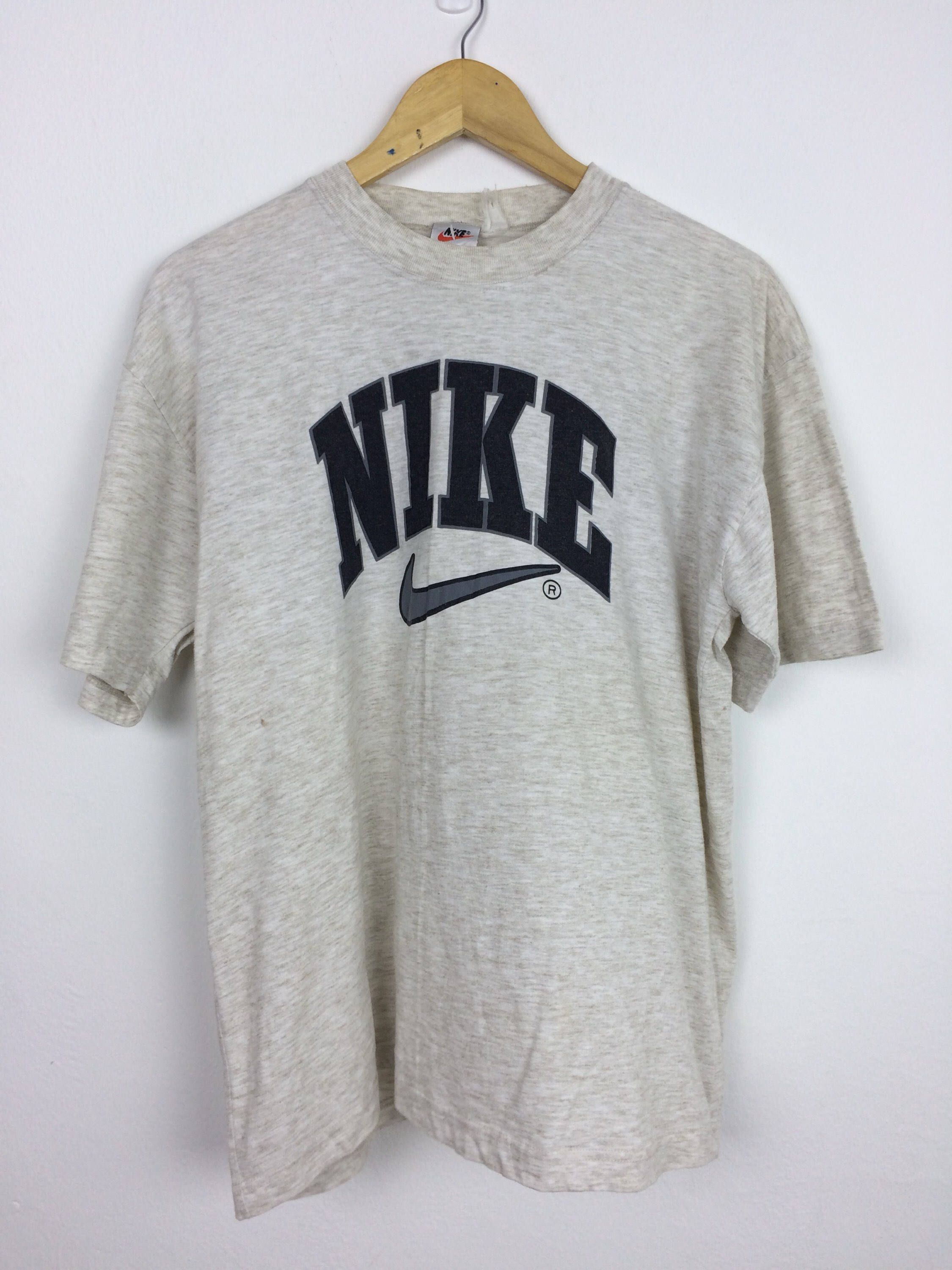 Excited To Share The Latest Addition To My Etsy Shop Vintage 90s Nike T Shirt Size L Big Logo Swoosh Stree Nike Tshirt Tee Shirt Outfit Nike T Shirts Women S
