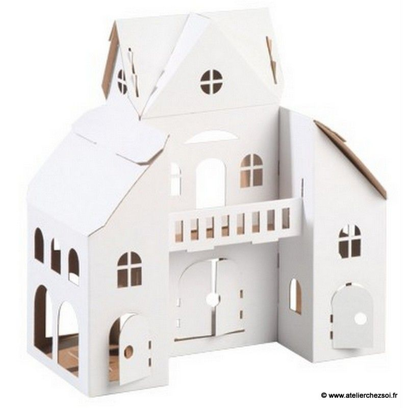 Maison en carton d corer calafant diy enfant for Maison a decorer