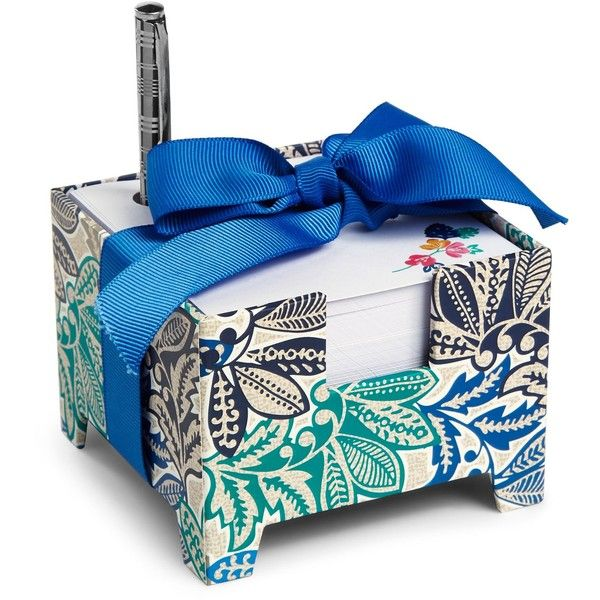 Vera Bradley Note Cube And Mini Pen 16 Liked On Polyvore Featuring Home