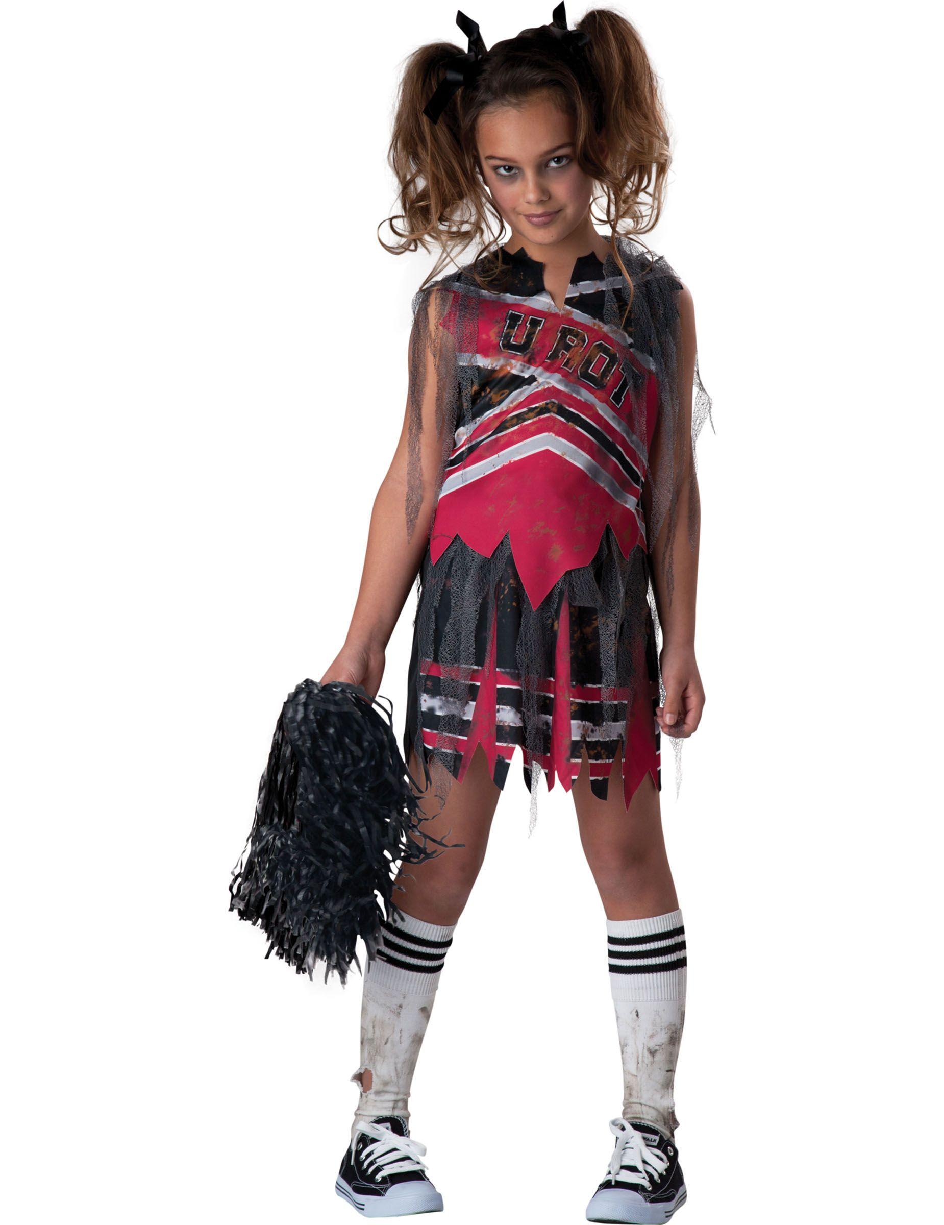 Quatang Gallery- Cheerleaderkostume Zombie Pige Deguisement Halloween Vetements Et Maquillage De Joie