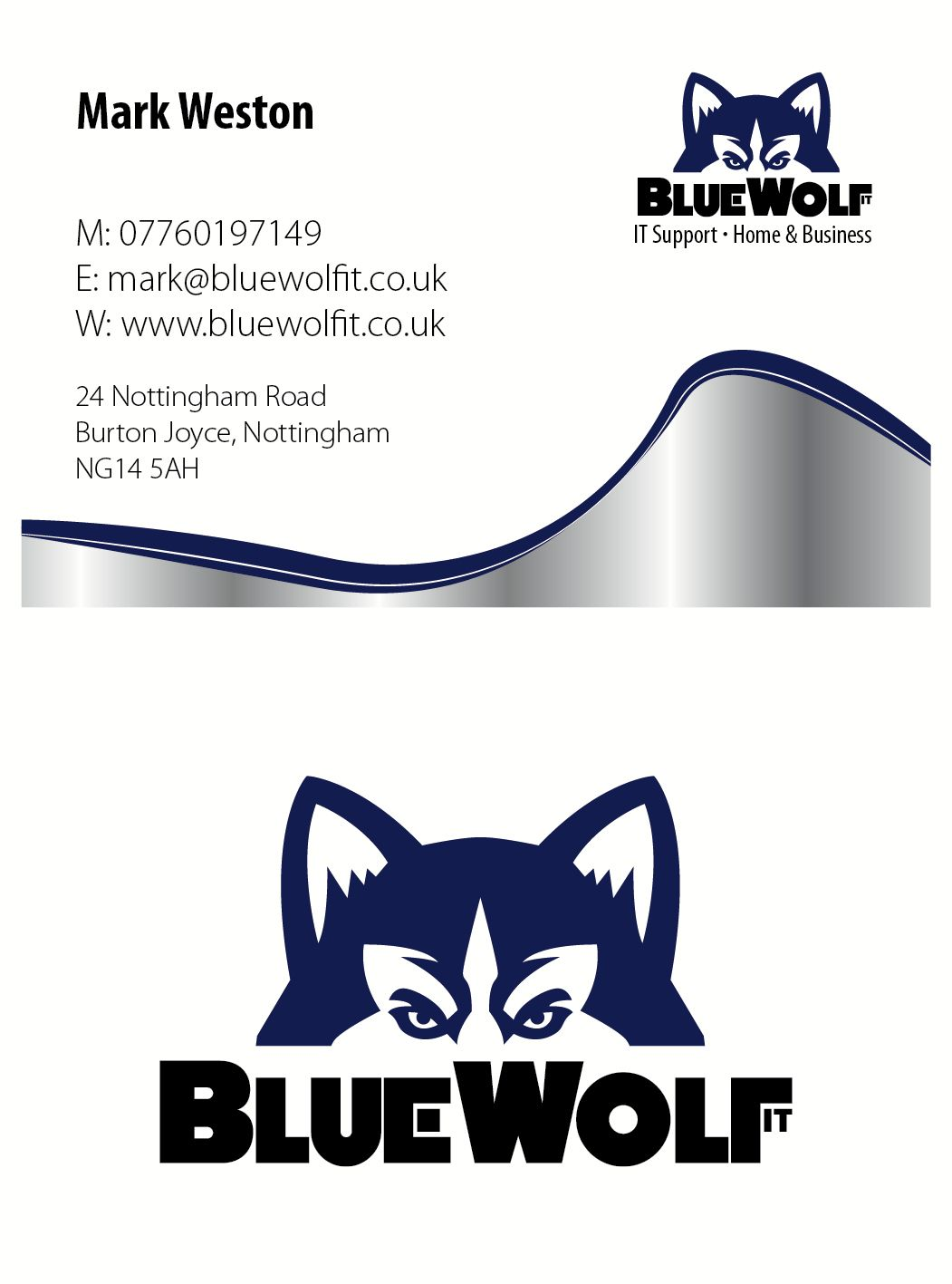 Blue Wolf IT - Business Card | Business Stationery | Pinterest ...