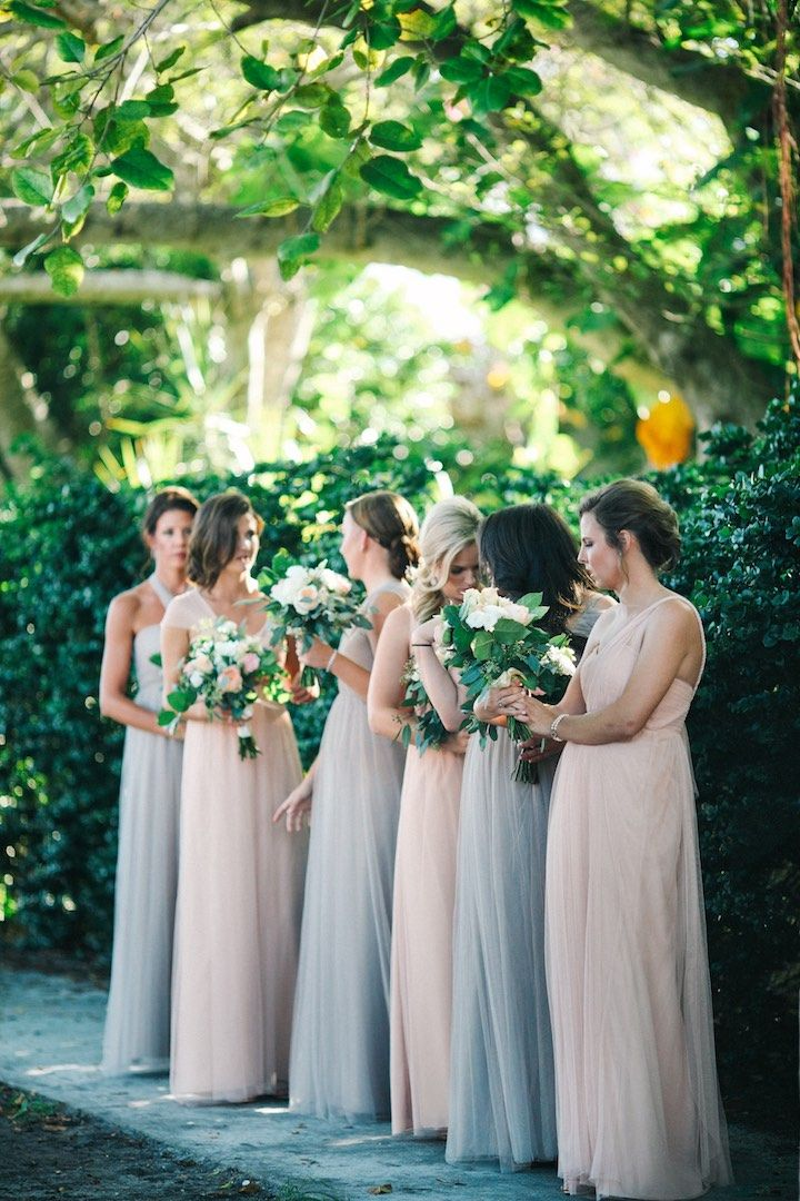 Florida Wedding With Beachside Views Chic Bridesmaid Dresses Dress Ideas And