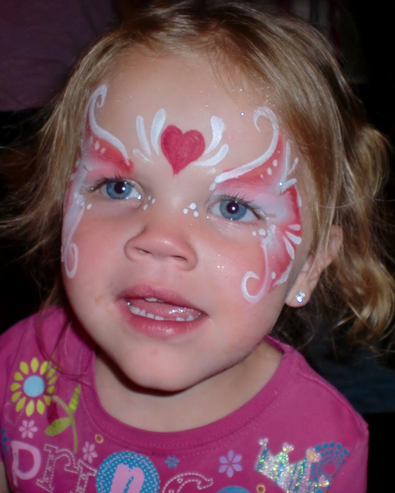 Valentine's Day Heart Mask Face Painting Utah, Salt Lake