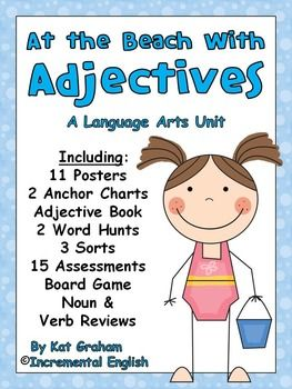 This Adjectives Unit Is 95 Pages Encompasses The Types Of Adjectives And Features Optional Noun And Ver Adjectives Teaching Adjectives Part Of Speech Grammar Kinds of adjectives worksheets for