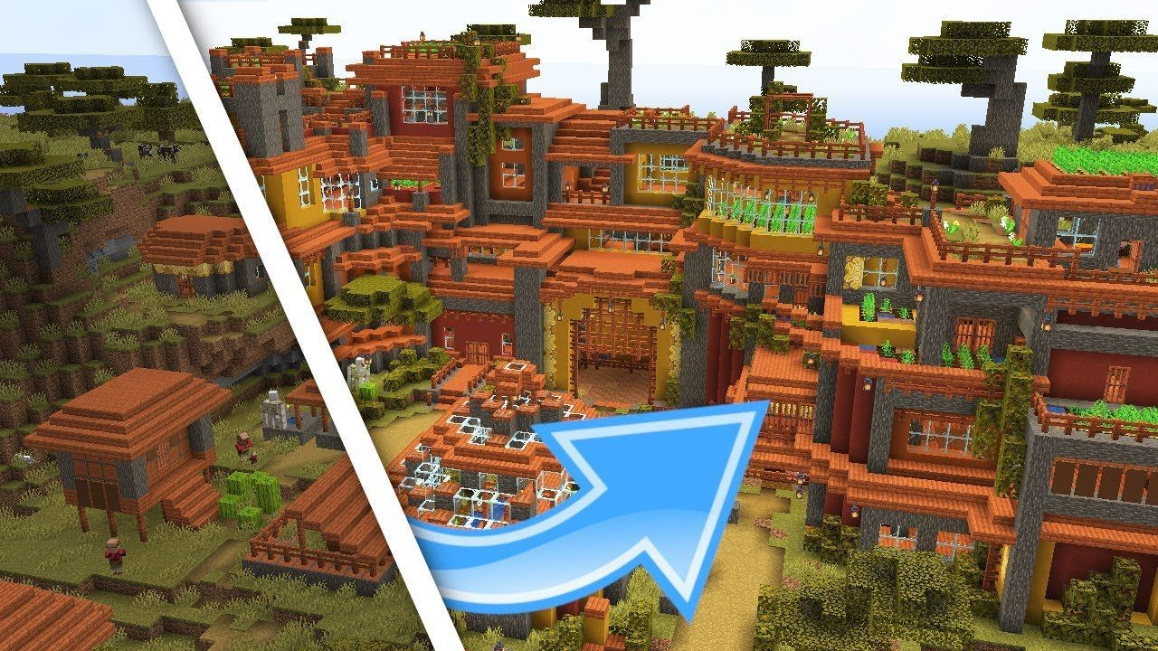 Minecraft Savanna Farm Village Transformation