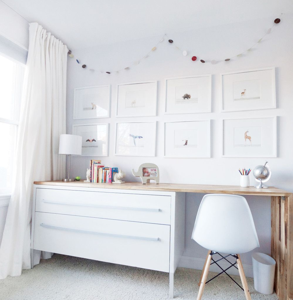 project nursery ikea hack dresser and desk with baby animal prints bedroom in 2019 ikea. Black Bedroom Furniture Sets. Home Design Ideas