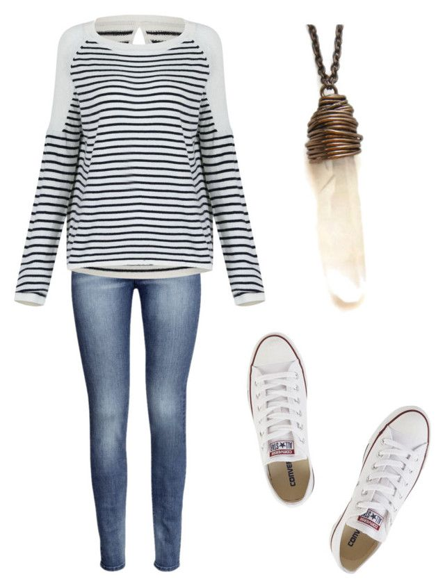 """""""I Got Style"""" by styleperson ❤ liked on Polyvore featuring H&M and Converse"""