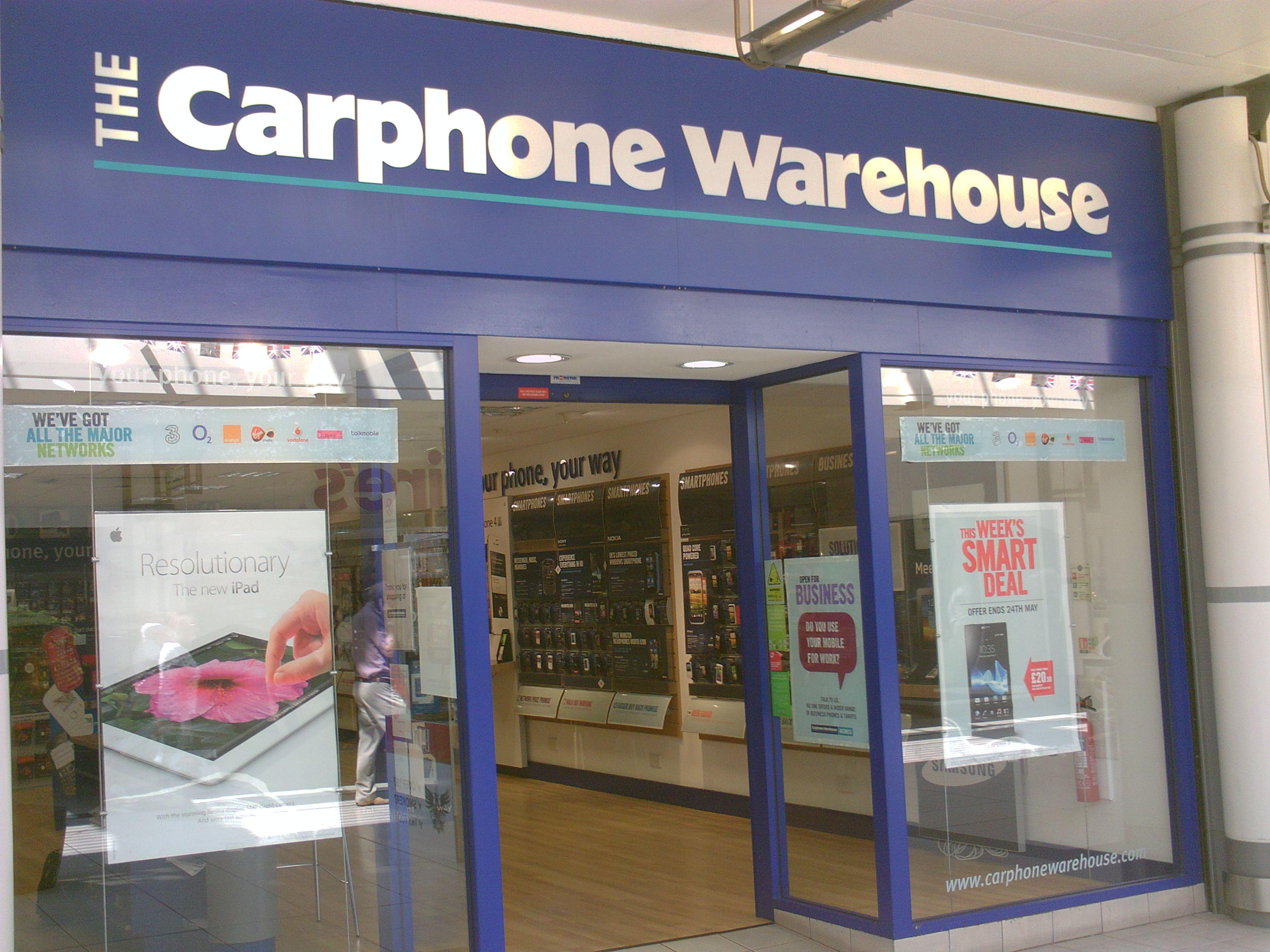Carphone Warehouse Coopers Square Shopping Centre Burton Upon Trent Burton Upon Trent Cooper Square Shopping Center