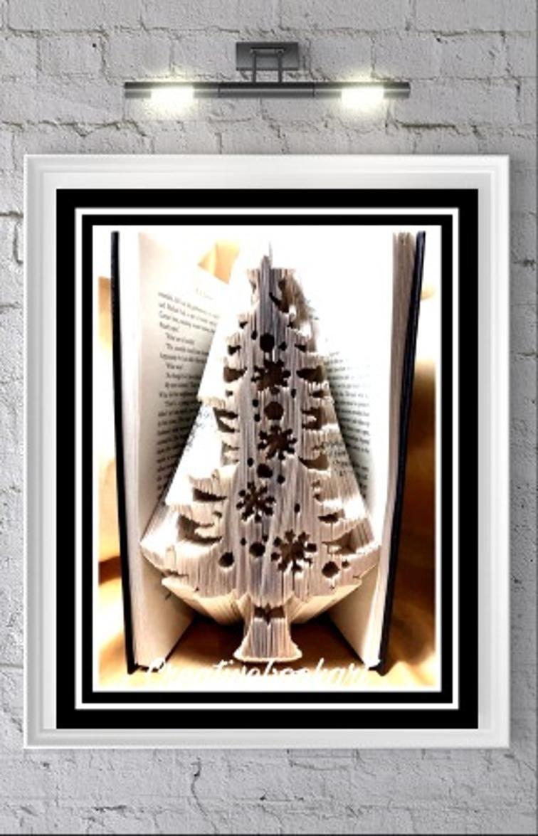 Xmas tree snowflakes book folding patterns book folding patterns