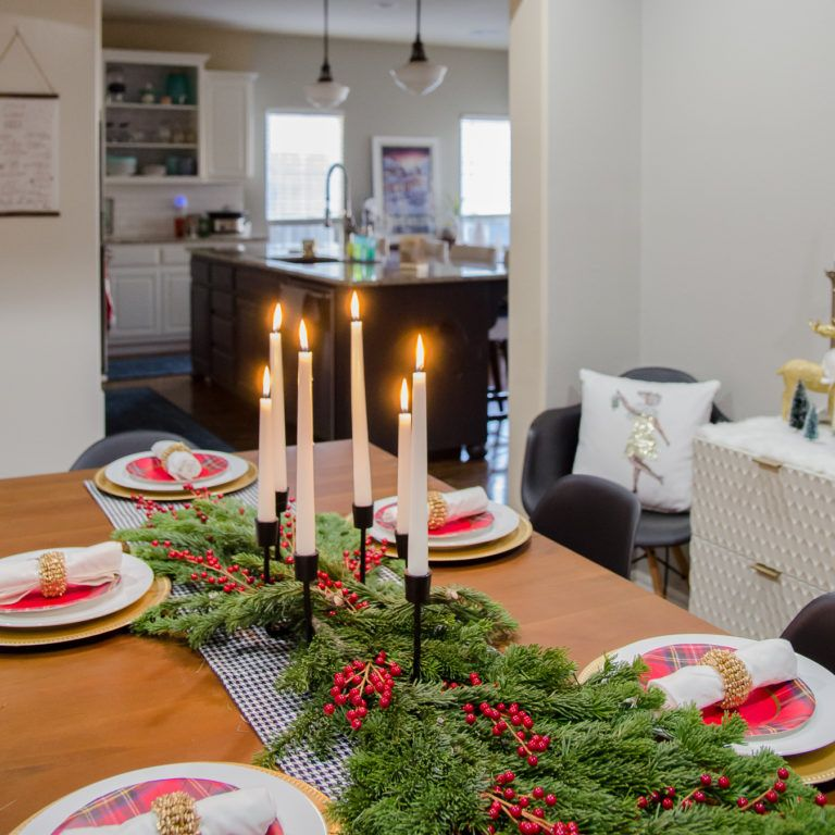 Best Modern Glam Meets Mid Century Christmas Dining Room 400 x 300