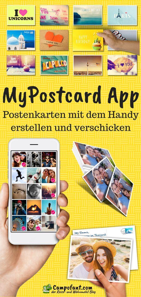 MyPostcard App, Postkarte online erstellen und verschicken