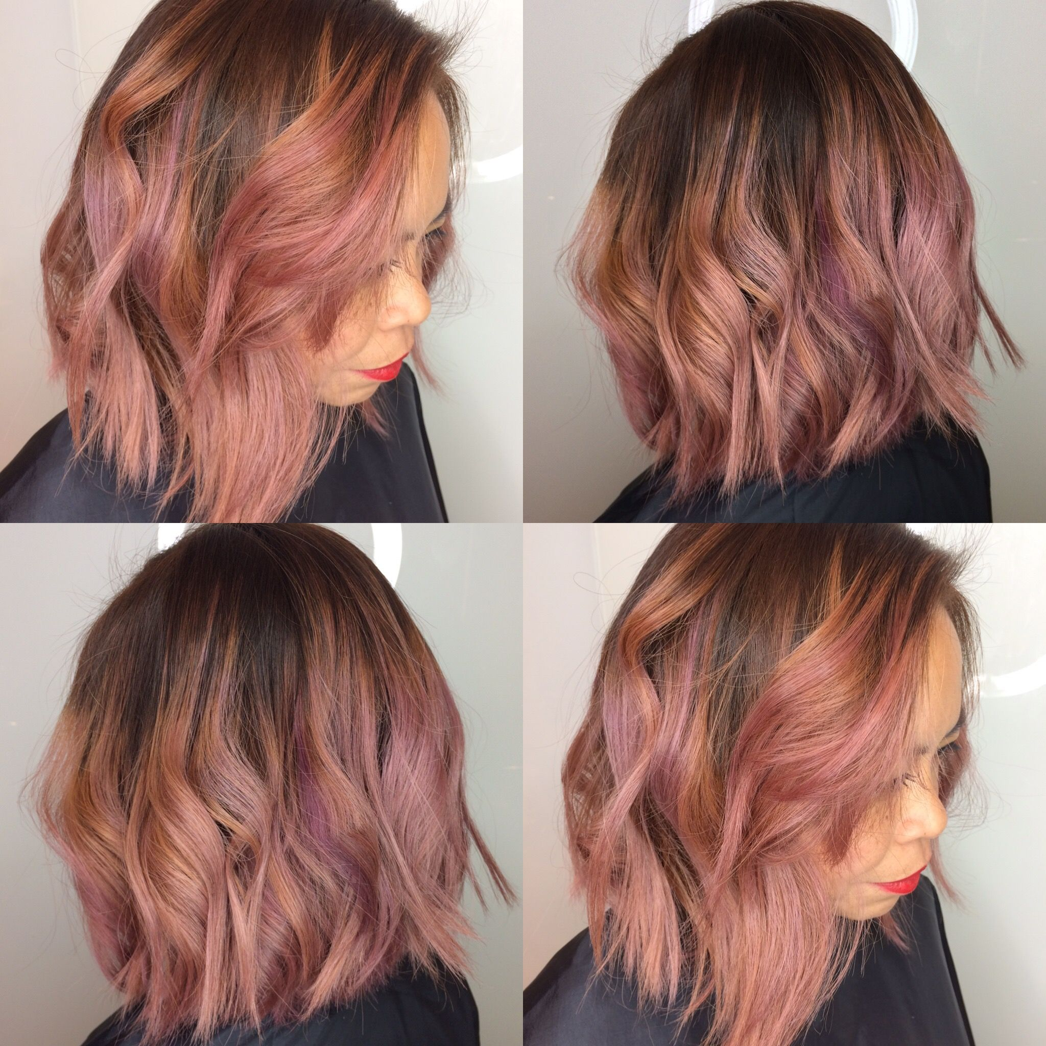 Calligraphy Cut By Me Jackie Chan Rose Gold Color Balayage By