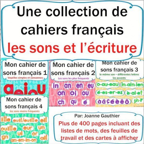 Les sons français: une collection de 4 cahiers | Apprendre ...